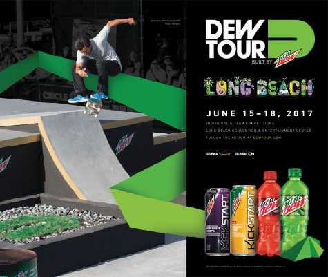 Long Beach Dew Tour Ad